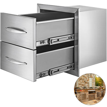 45*52 Cm Bbq Kitchen Island Drawers Double Stainless Steel Cooking Door Storage