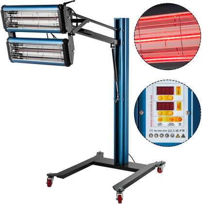 Infrared Paint Dryer Drying Lamp 2200w With 2 Lamps And Digital Display