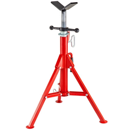 Fold-a-jack V-head High Pipe Stand Height 71 - 132 Cm High Stability Fit Ridgid