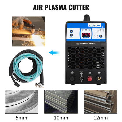 Cut-70 Digital Pilot Arc Plasma Cutter 70 Amp Hf Inverter Igbt Mix Cut 25mm 380v