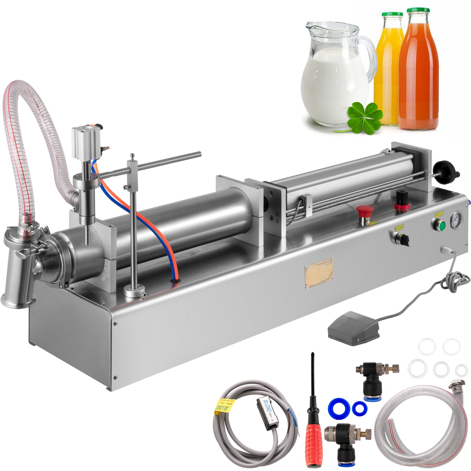 50-3000ml Pneumatic Liquid Filling Machine For Water / Perfume / Shampoo / Oil