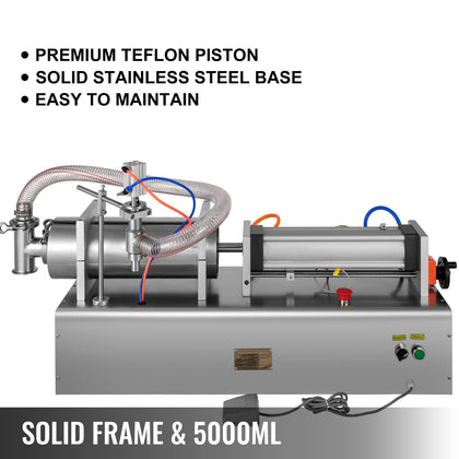 1000-5000ml Pneumatic Liquid Filling Machine For Water / Perfume / Shampoo / Oil