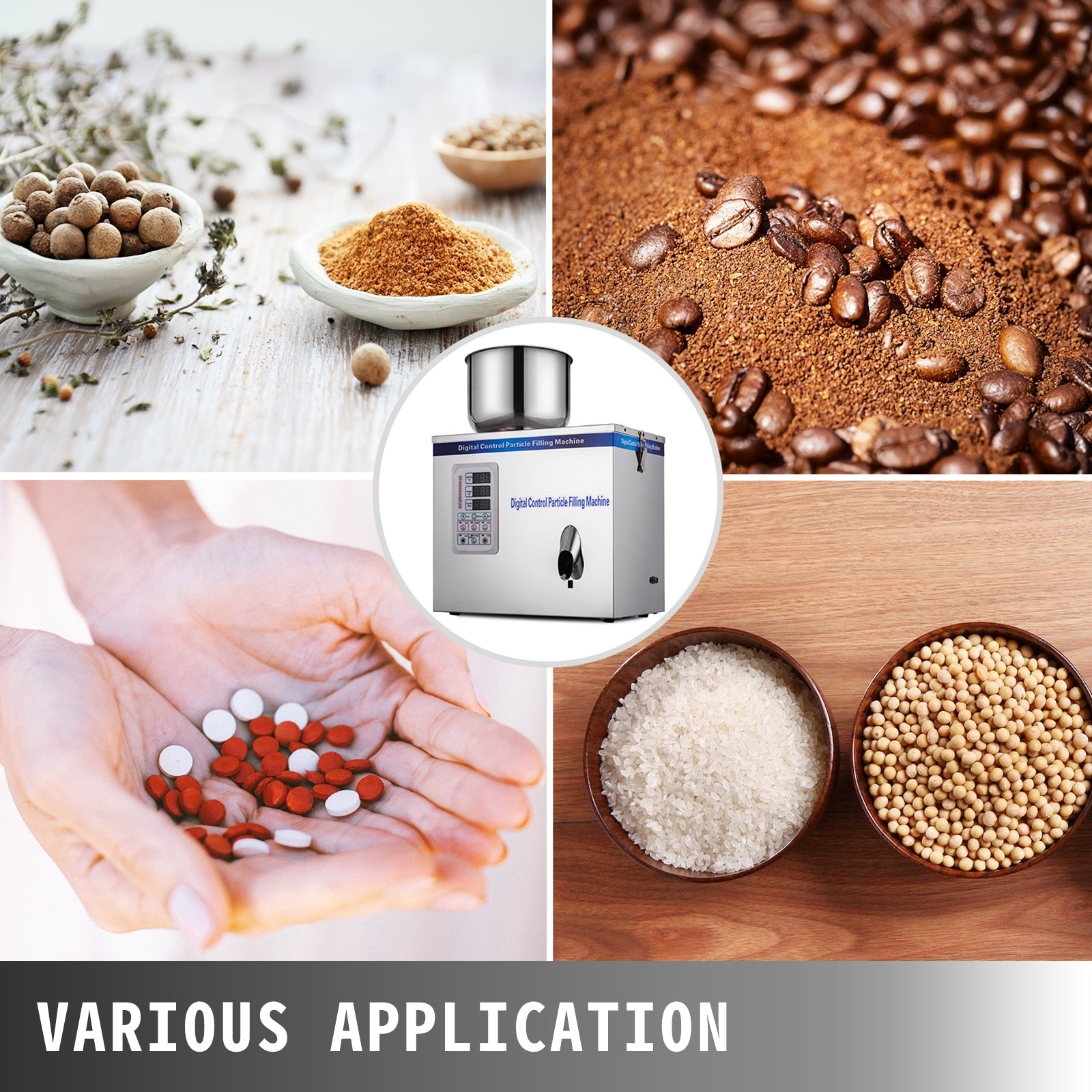 1-25g Particle Powder Subpackage Filling Machine Device Spice Grain Seed 180w