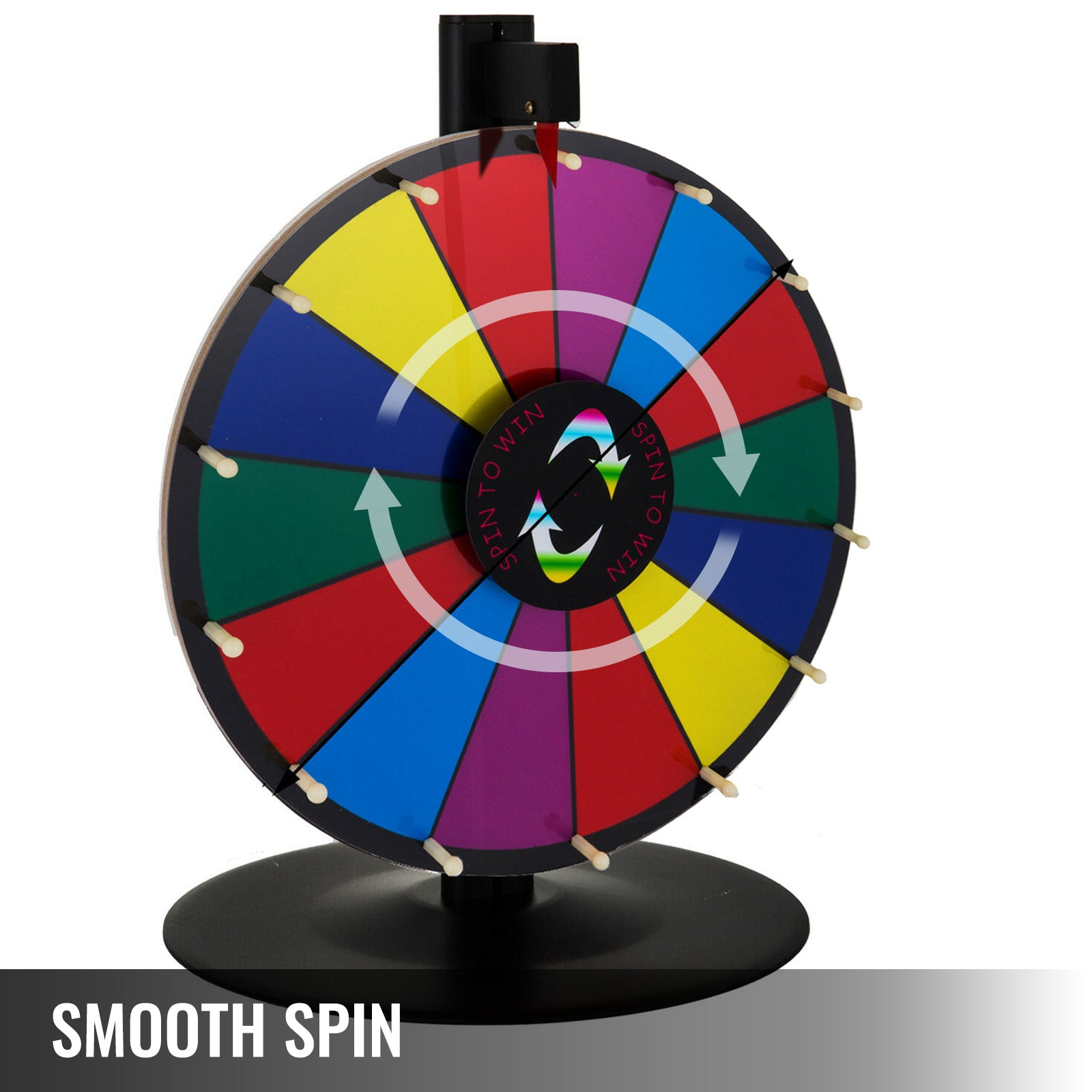 "24"" Tabletop Color Prize Wheel Spinnig Game Trade Show Fortune Mark Pen Great"