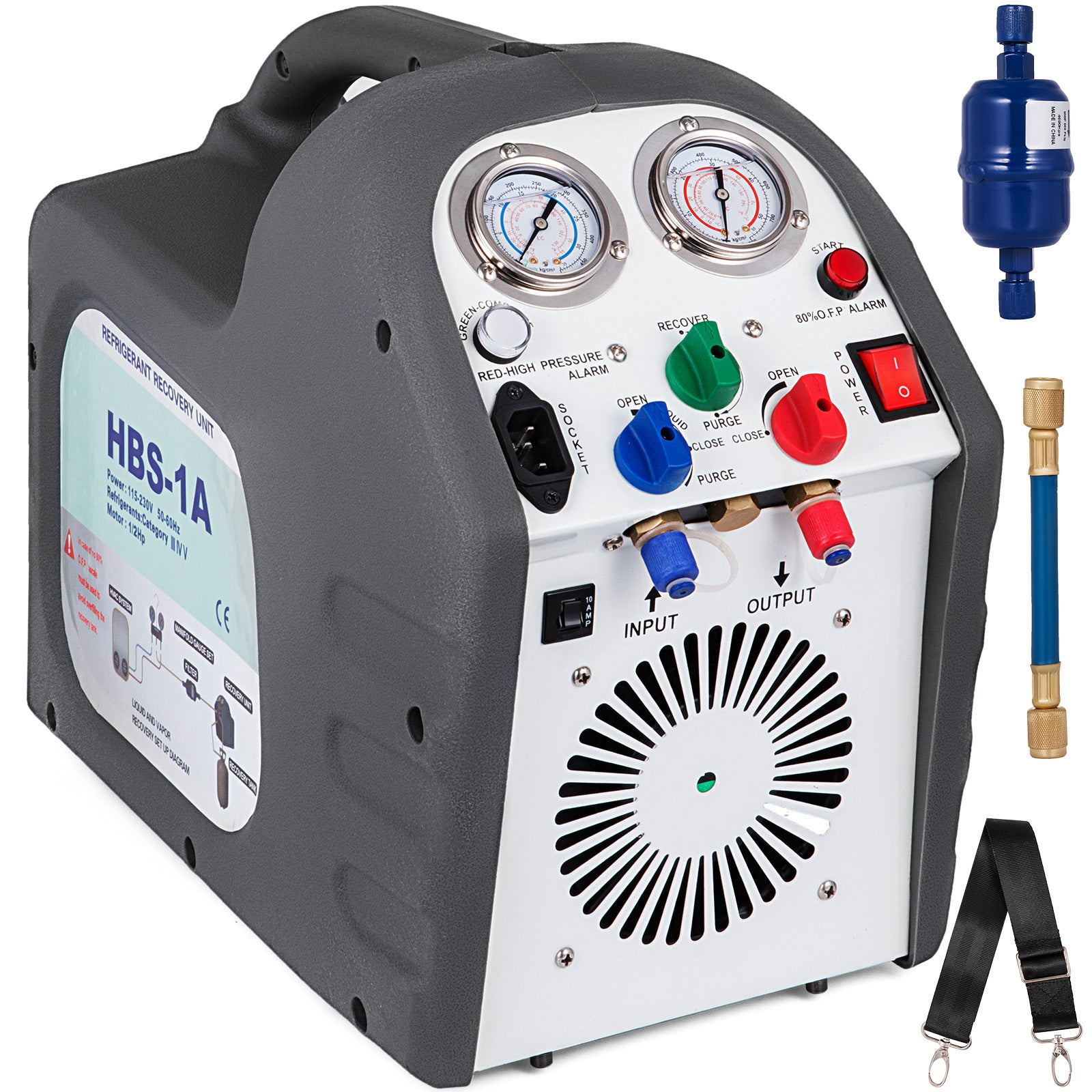 Refrigerant Recovery Machine Hvac R410a Rg6 For Both Liquid & Vapor Refrigerant