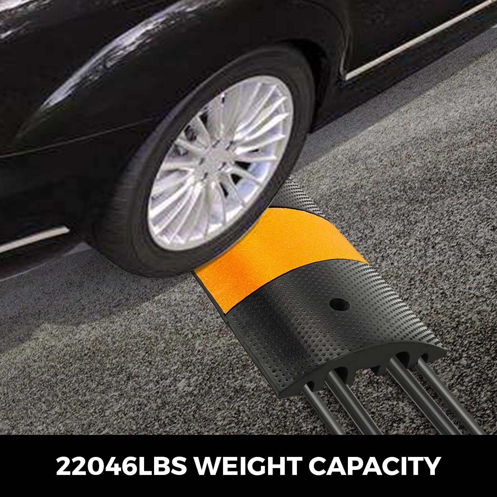 2pcs Modular Rubber Speed Bumps Electric Parking Lot 10000kg Capacity Warehouse