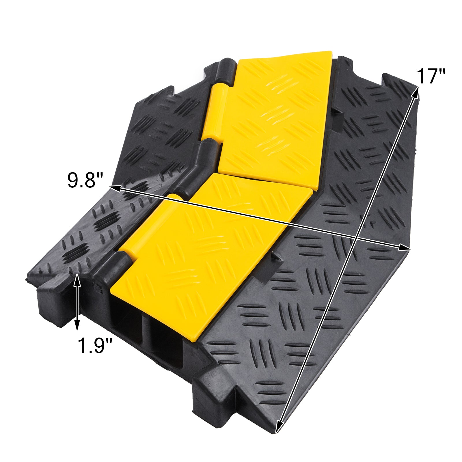 4 Pack Rubber Cable Protector Ramp 45 Right Turn Non-slip Pedestrian Vehicle
