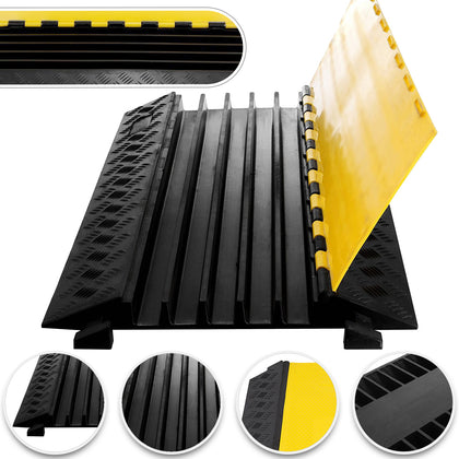 5 Channel Rubber Electrical Wire Cable Cover Ramp Guard Warehouse Ramp