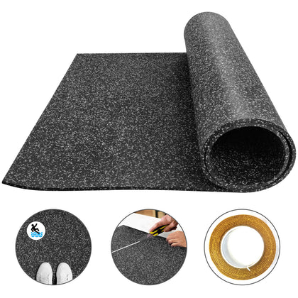 Flooringinc 9.5mm Rubber Gym Flooring Rolls - 4'x6' Exercise & Gym Equipment Mat