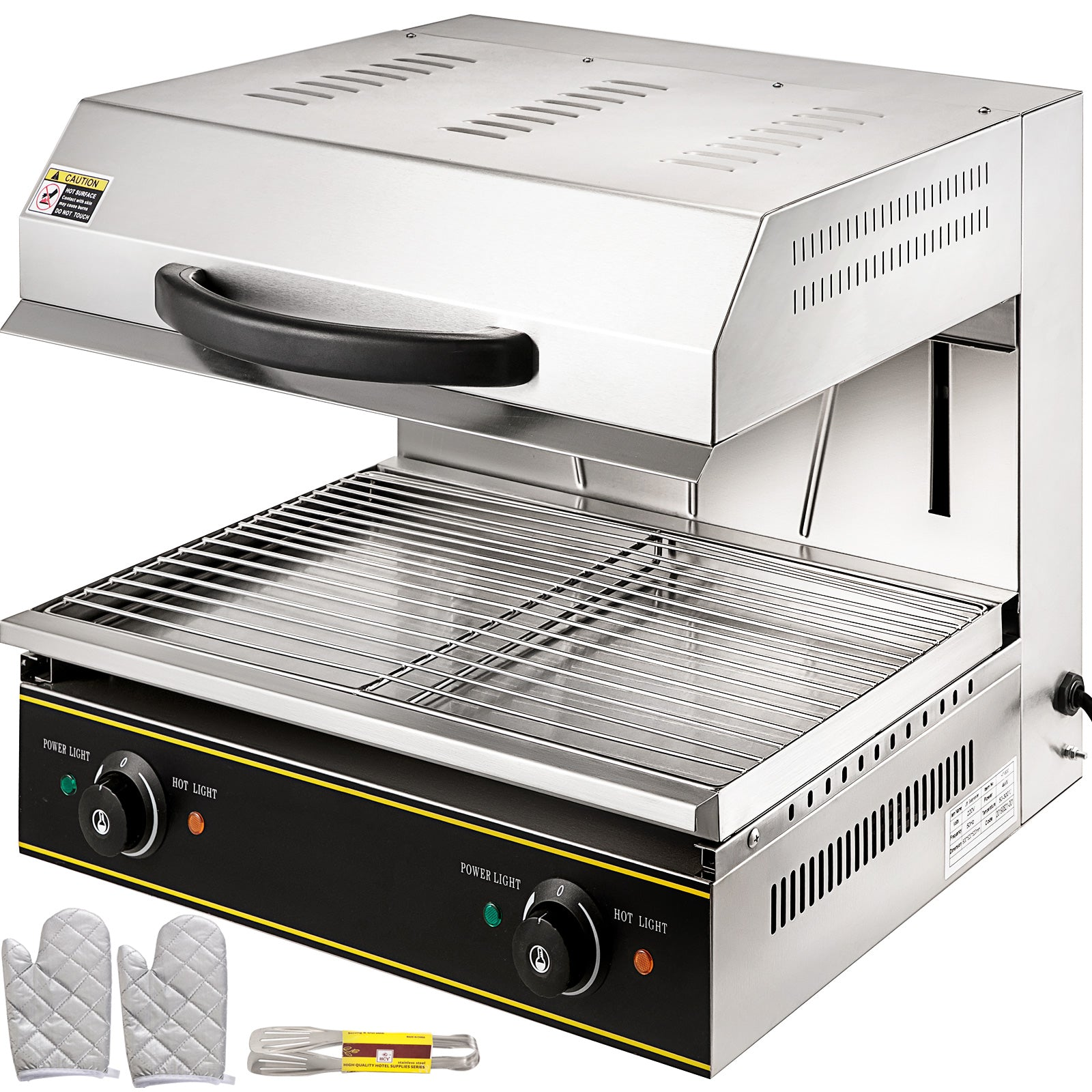 Salamander Broiler Oven Rise & Fall 60x48 Cm Grill Toaster With Liftable Burner