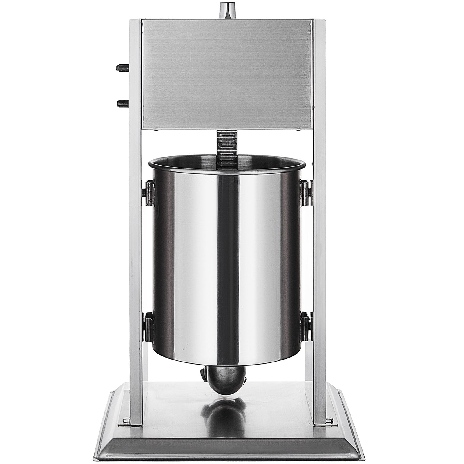 10l Sausage Stuffer Meat Maker Machine With 5 Nozzles Vertical Stainless Steel