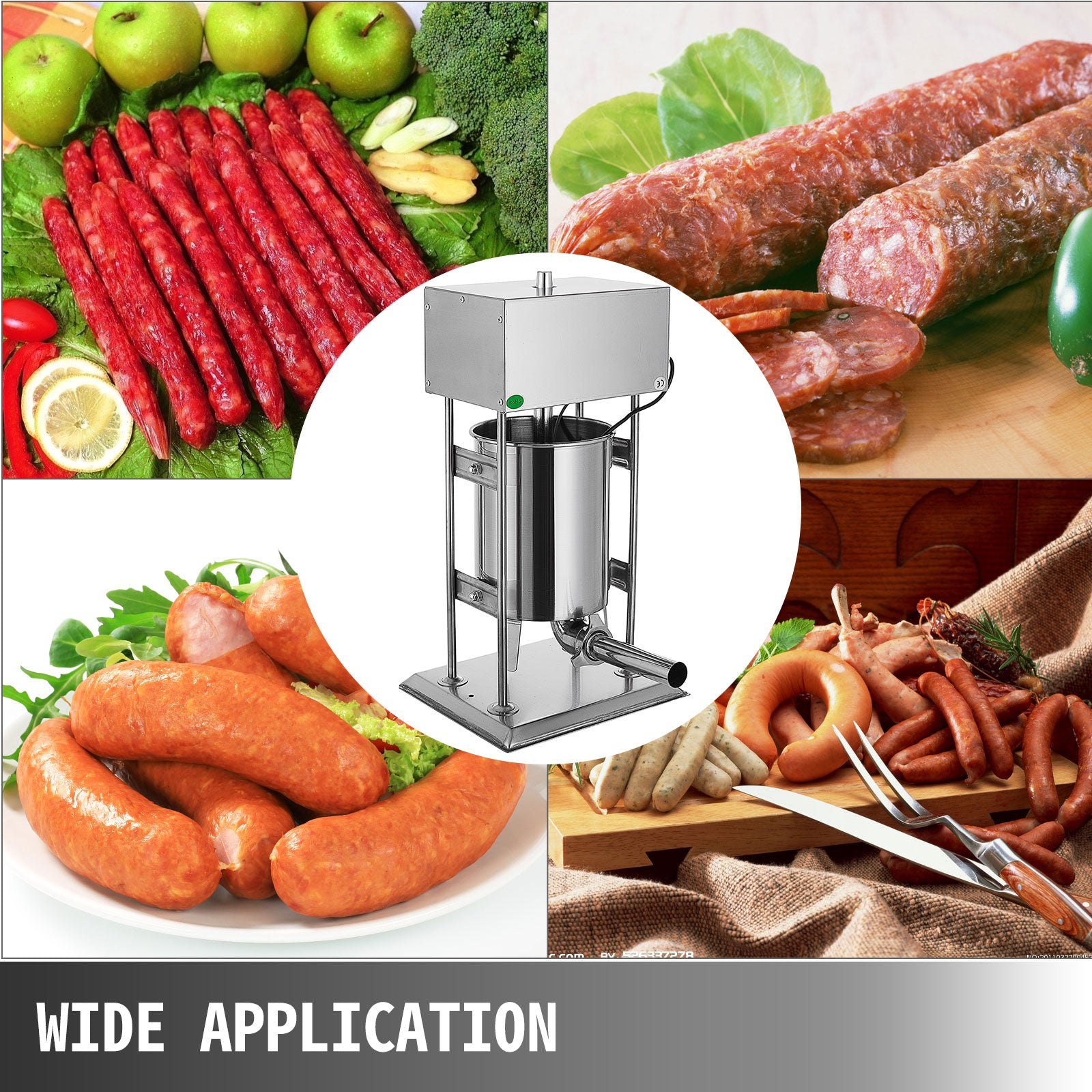 15l Electric Sausage Stuffer Stainless Steel Vertical Filler Maker Machine