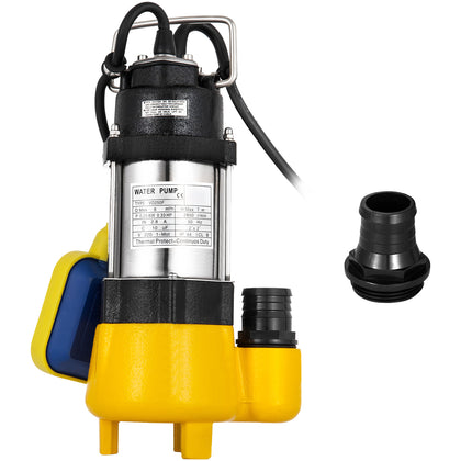 250w Submersible Sewage Dirty Water Pond Drain Septic Sump Pond Grinding Pump