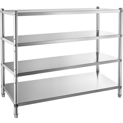 Stainless Steel Racking Garage Kitchen Shelf Warehouse 4 Tier Storage 152x152 Cm