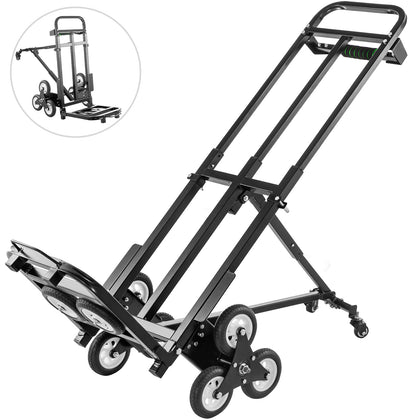 Stair Climbing Cart 460lbs,portable Folding Trolley, Hand Truck W/ Backup Wheels