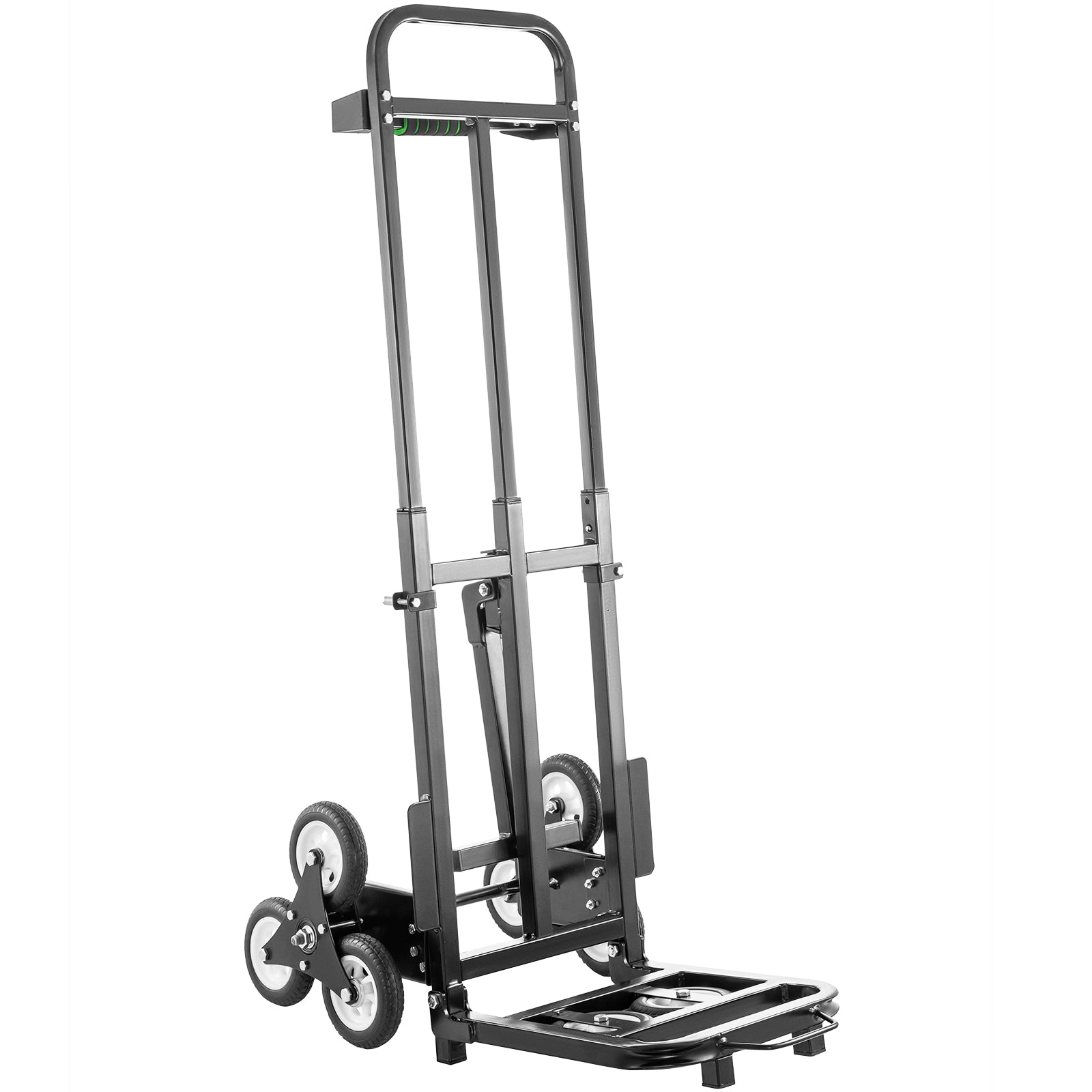 Stair Climbing Cart 460lbs Portable Folding Trolley 6 Wheels, W/ 2 Backup Wheels