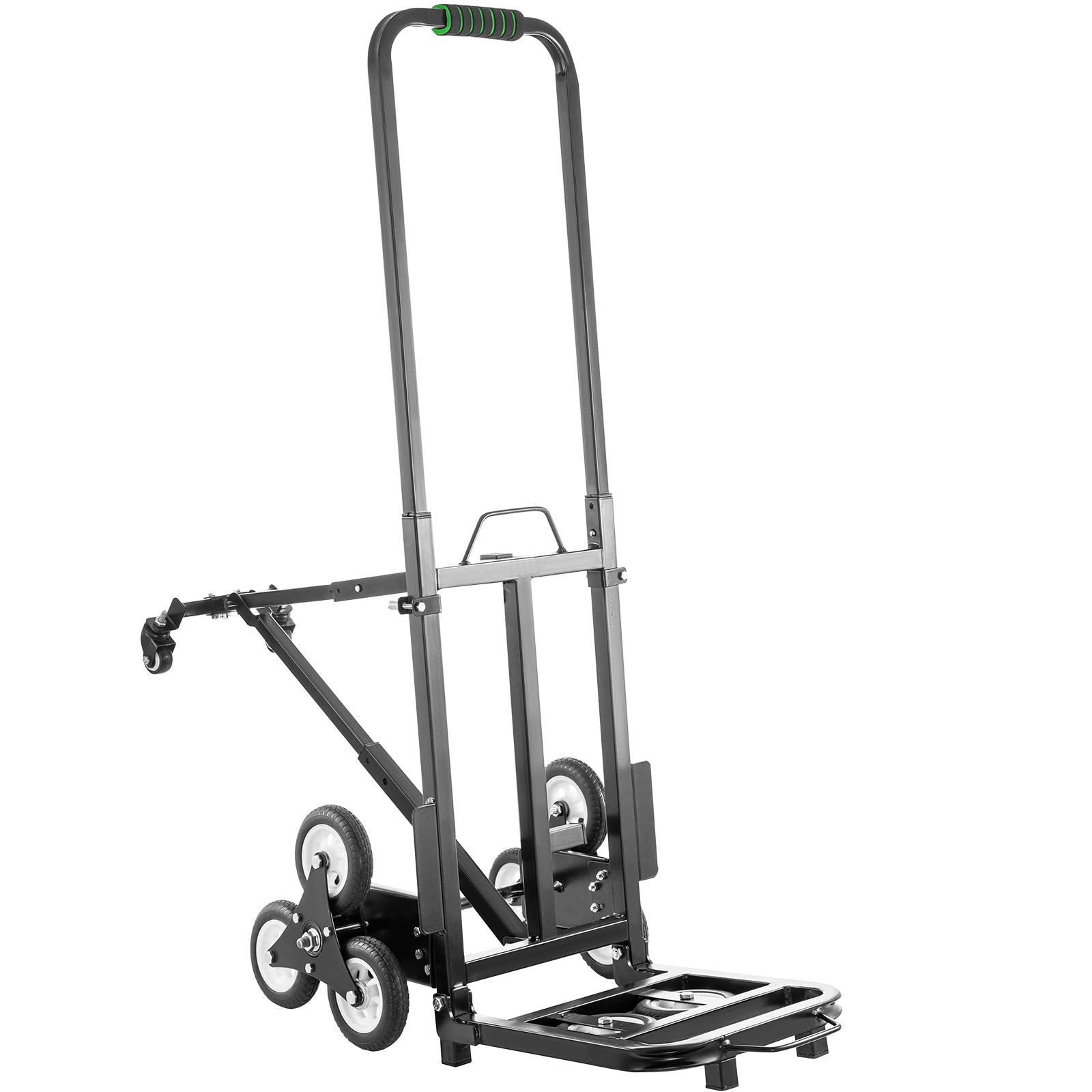 Stair Climbing Cart Portable Folding Trolley 330lbs, Hand Truck W/ 5inch Wheels