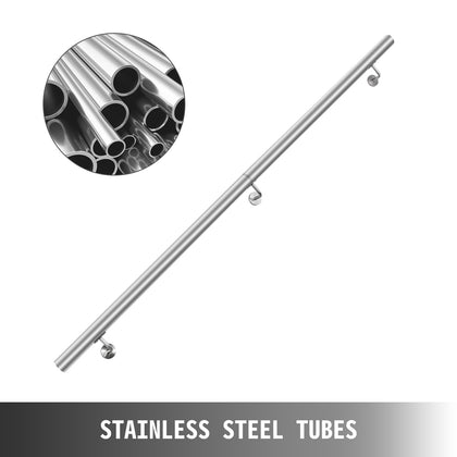 Stair Handrail Stair Rail 5ft Stainless Steel Handrails For Stairs 200lbs Load