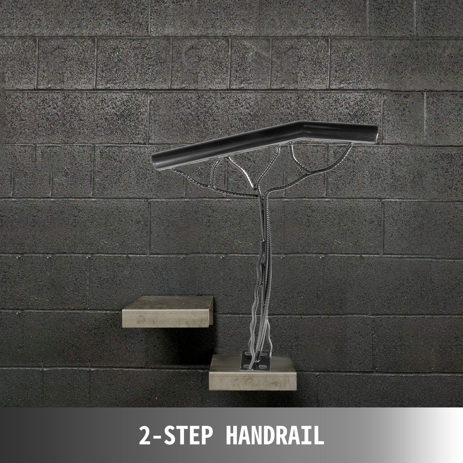 2-step Handrail Single Post Handrail Branch-type Metal Handrail For Stairs Steel
