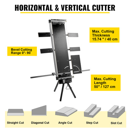 Vevor Styrofoam Cutter 42cm Max. Cut Thickness 0-90° With Stand 4+1 Side Plates