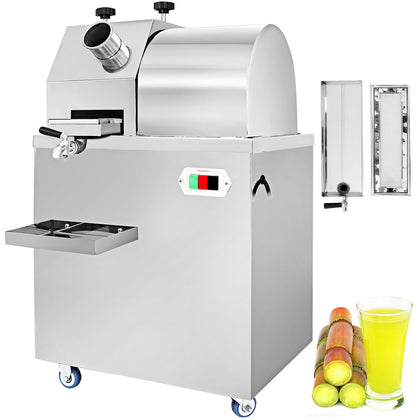 750w Electric Sugar Cane Ginger Juicer Machine Commercial 660lbs/h Juice Fruit