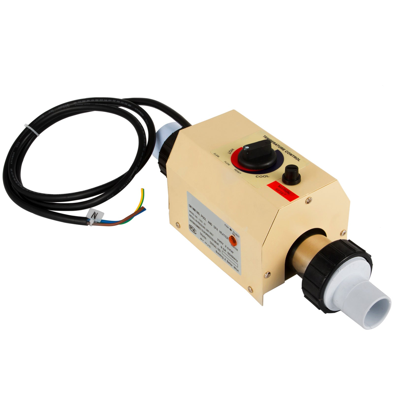 2kw Hot Tub Electric Water Heater Thermostat For Swimming Pool & Bath Spa