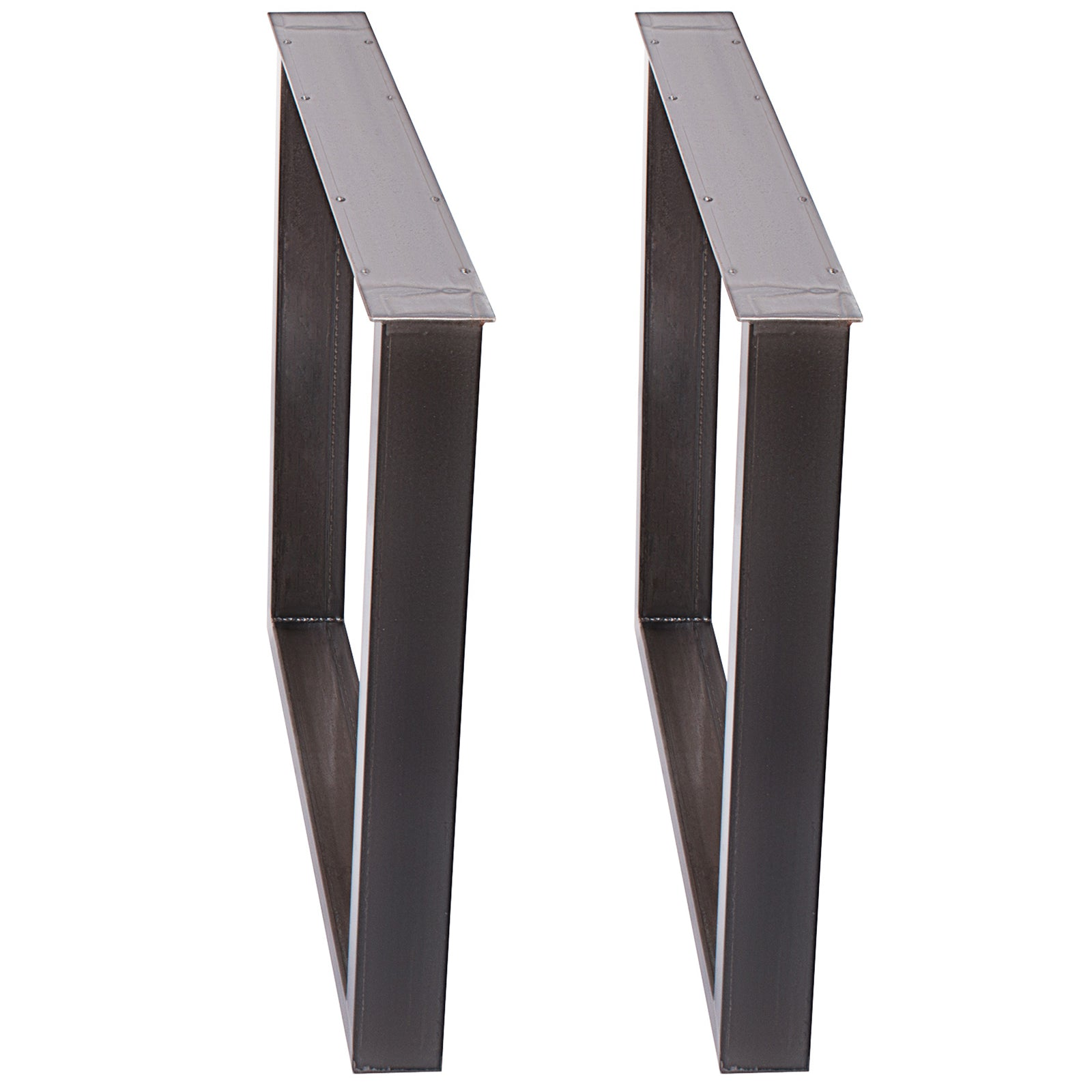 2x Table Legs Box Section Clear Coat 60 X 72 Cm Dinning Table Support Handmade