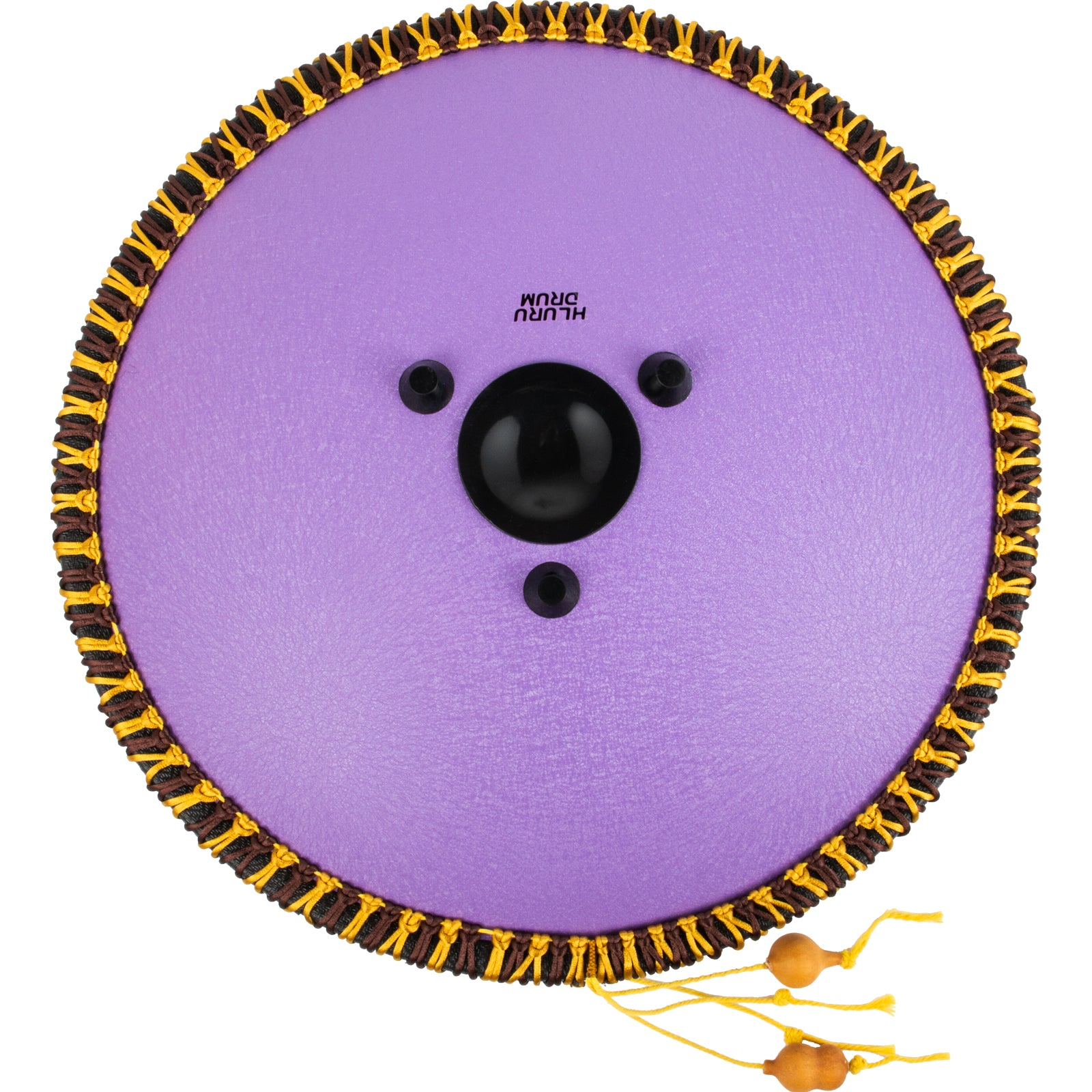 Tongue Drum 14 Notes Dish Shape Drum 14 Inches Dia. With Rope Decoration, Purple
