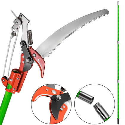 26ft Detachable Pole Pruning Saw Lopper Pruner Trimmer Steel Trimmer Shearing