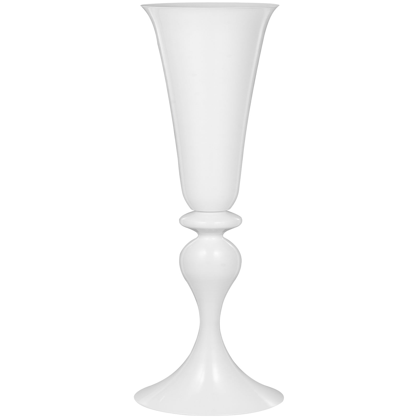 "White Trumpet Vase For Party Celebration Flower Vases Centerpiece 22"" Height"