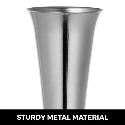 Sliver Trumpet Vase For Party Celebration Flower Vases Centerpiece 22