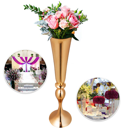 Candle Holder Vase For Wedding Flower Vase 3pcs Gold Centerpiece Flower Rack