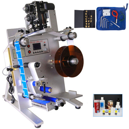 Round Bottle Semi-automatic Labeling Machine Electric Commercial Milk Juice