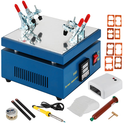Lcd Screen Separator Split Repair Machine Full Tool Set Glass Removal + 16 Molds