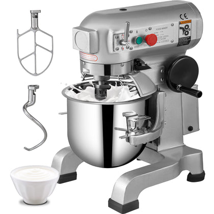 30l Commercial Dough Mixer Cake Food Heavy Duty Planetary Mixer Three Speeds