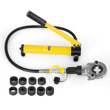 Hydraulic Pipe Crimper Plumbing Crimping Tool V12-28mm Th16-32mm Jaws 360° Head
