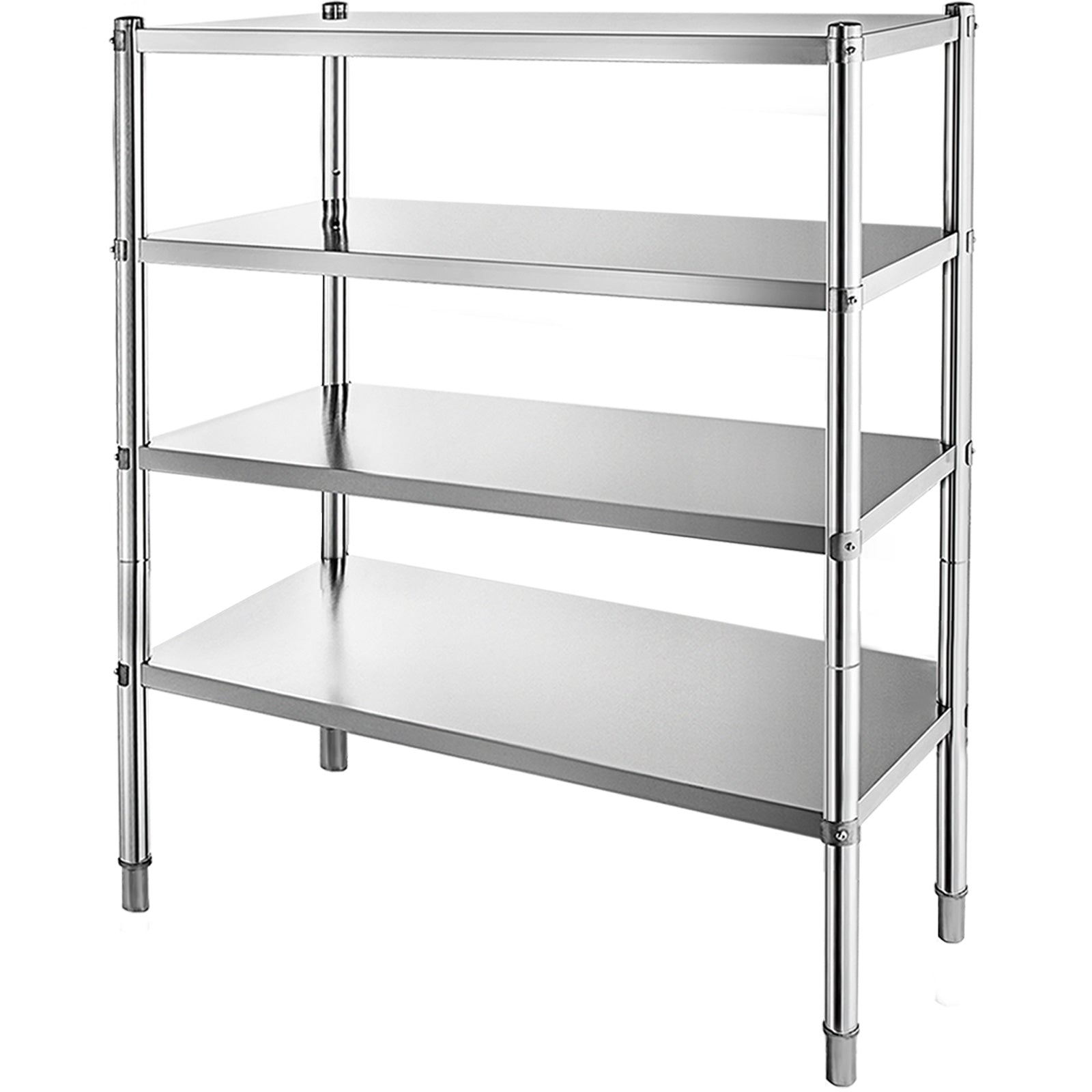 Stainless Steel Kitchen Shelf 4 Tier Shelving Rack Commercial Bathroom Storage