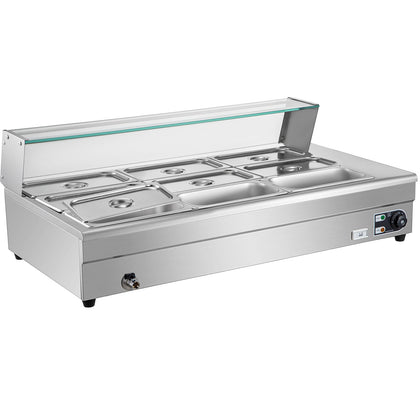 Vevor Electrical Bain Marie 9*1/3 Pan Catering Serving Food Warmer Display Well