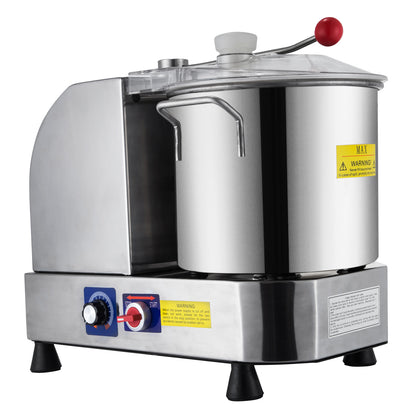 6l Litre Food Dough Mixer Blender Cutter Meat Processor Machine Stainless Steel