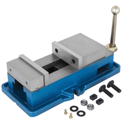 4''100mm Non-swivel Milling Lock Vise Bench Clamp Ductile Iron Sliding 80000psi