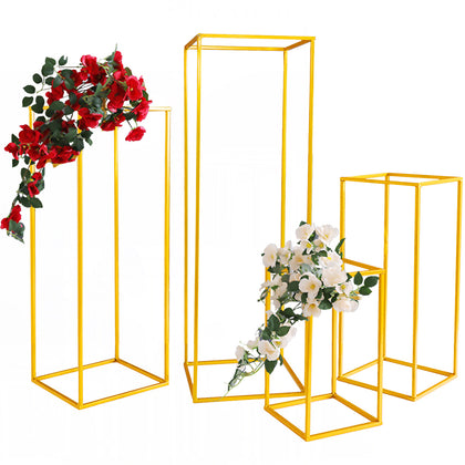 Wedding Flower Vase Floor Vase Column Stand Metal Road Lead 5pcs Gold Decoration