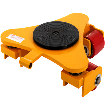 3t/6600lbs 360° Machinery Skate Mover Durable 360°rotation Rotating Rollers