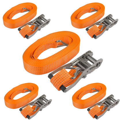 5xtie Down Straps 33ft Ratchet Straps Med Luggage Trailer Roof Rack 6600lb