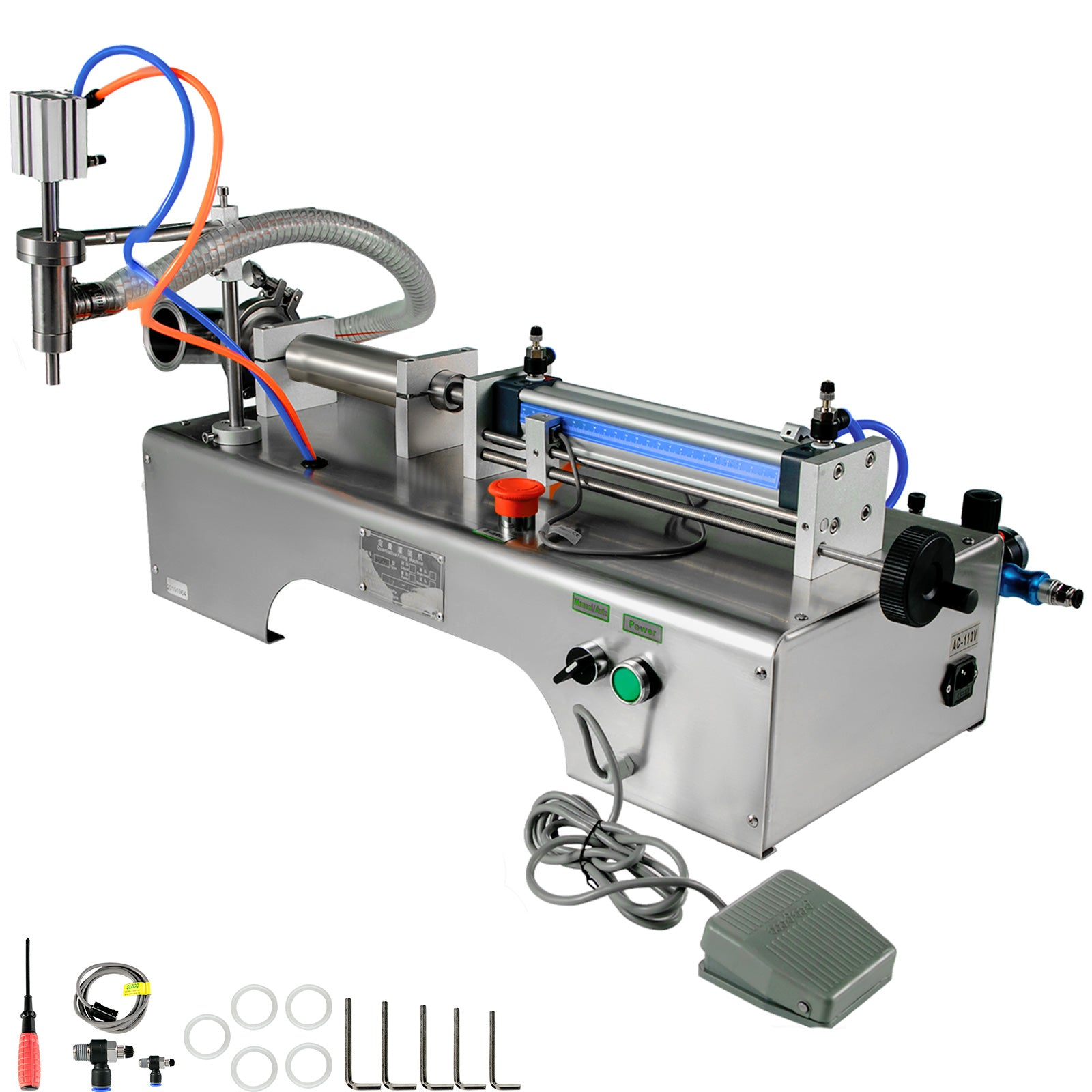 Pneumatic Liquid Filling Machine 50-500ml Semi-auto Single Head Pneumatic