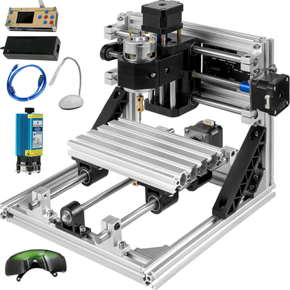 1610 Cnc Router Kit With Offline Controller + 500mw Laser Engraver Wood Pvc Usb