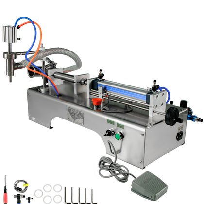 Pneumatic Liquid Filling Machine Single Head Pneumatic 10-300ml Semi-auto