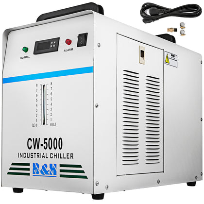 Cw-5000 Industrial Water Chiller For Cnc 80w/100w Co2 Glass Laser Tube Cooler