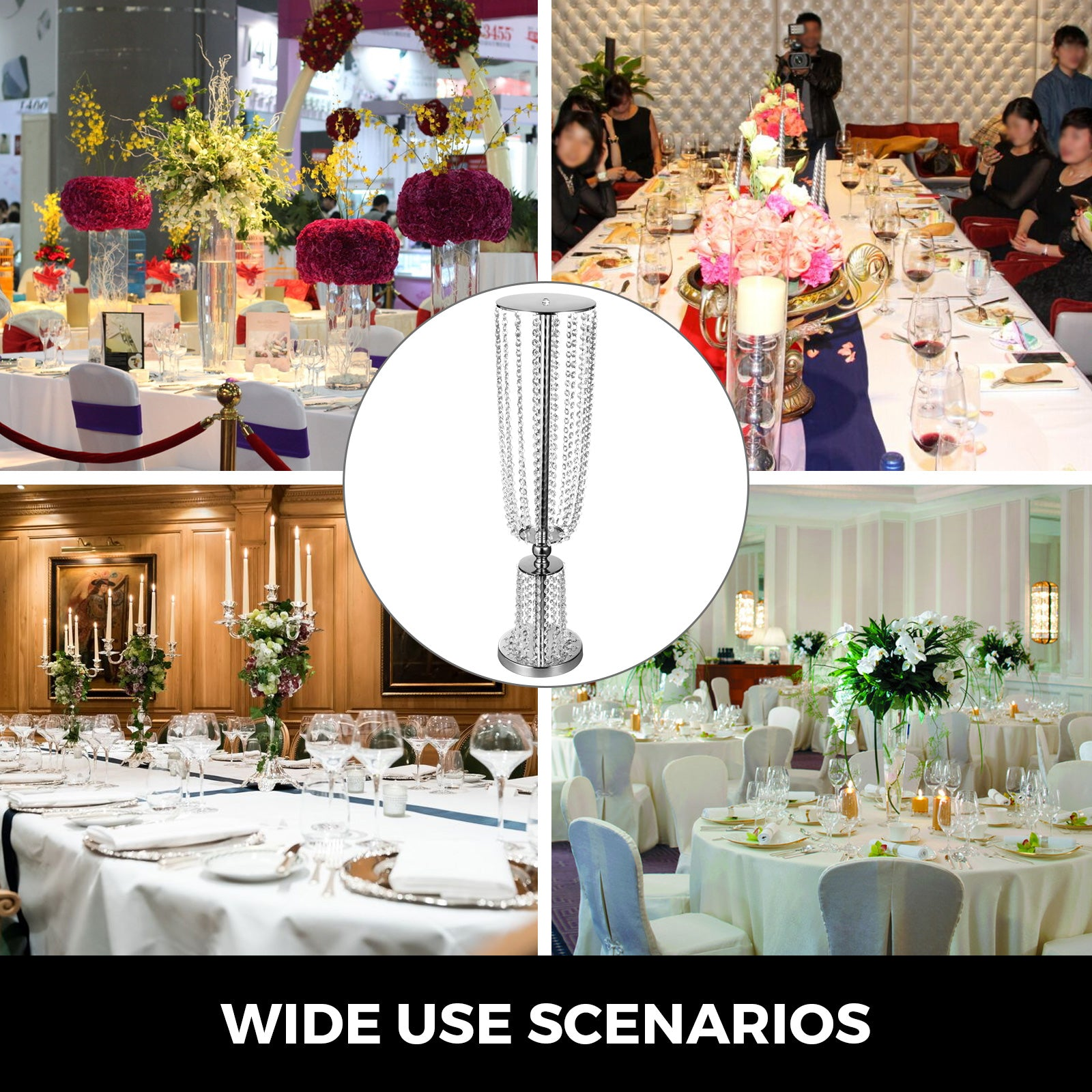 Tall Wedding Centerpieces Crystal Centerpieces For Wedding Table 2 Flower Stands