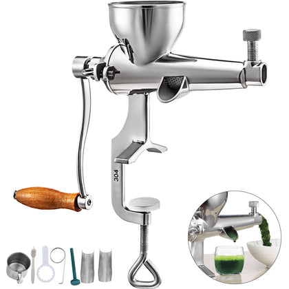 Vevor Stainless Steel Hand Juicer Wheat Grass Squeezer Fruit Vegetable Extractor