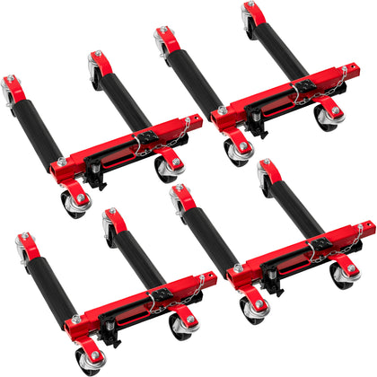 Vevor Wheel Dolly 4pcs Hydraulic Car Dolly 1500lbs Per Each Wheel Jacks For Cars